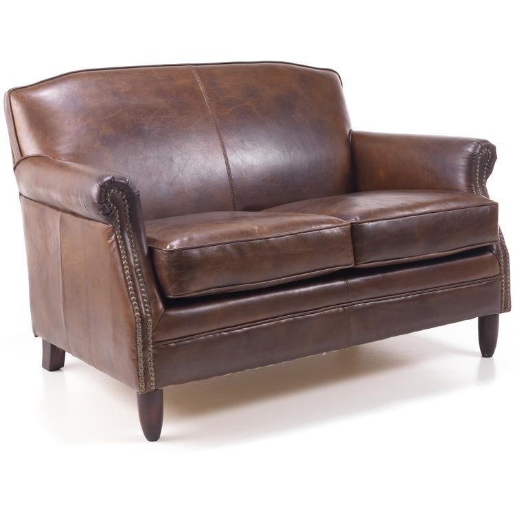 Ancient Mariner Vintage Studded Front Leather Sofa