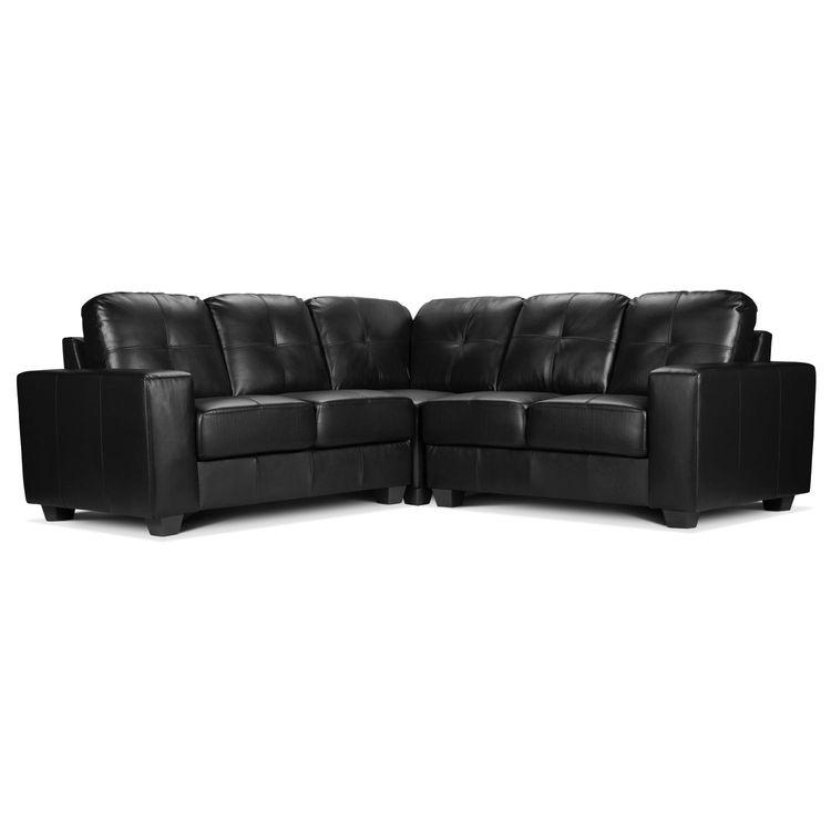 Aaron Leather Corner Sofa