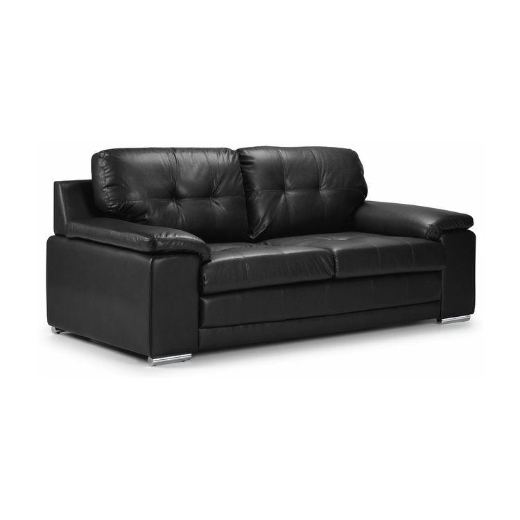The denver 3 seater leather sofa for Denver sofa bed