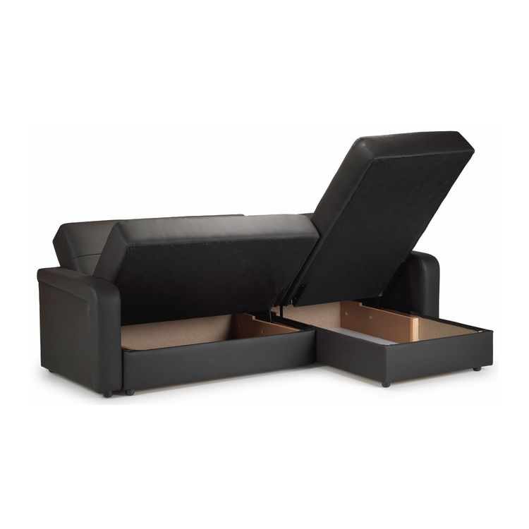 Contender Leather Storage Sofa Bed