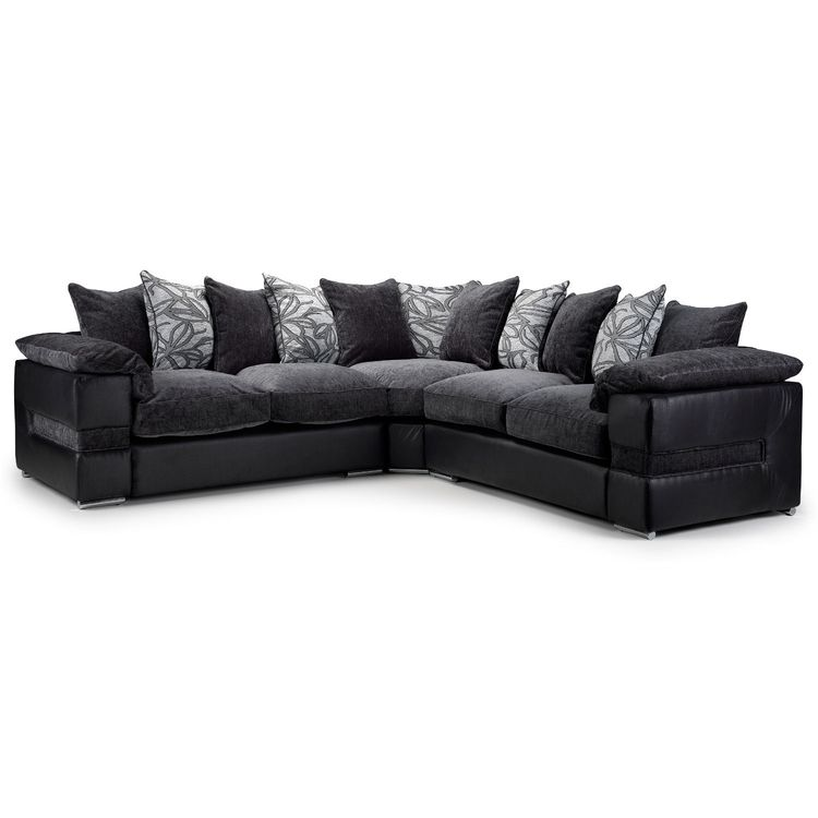 Daniel Large Fabric Corner Sofa