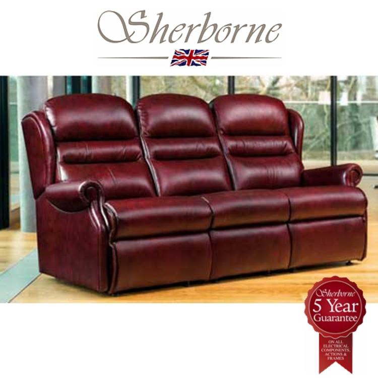 Ashford Leather 3 Seater Sherborne