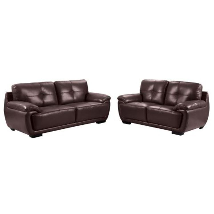 Mandy leather sofa package deal 3 2 seater for Leather sofa deals