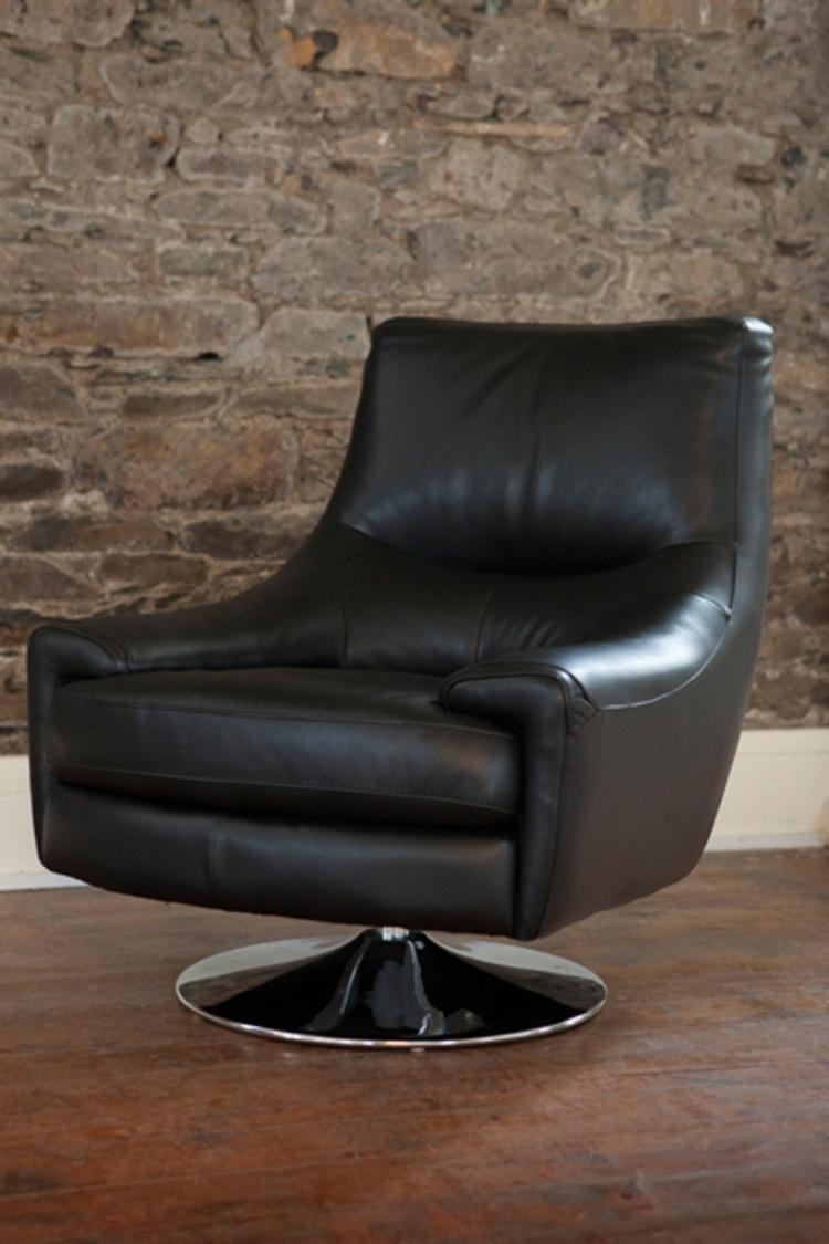 Nino Leather Swivel Chair