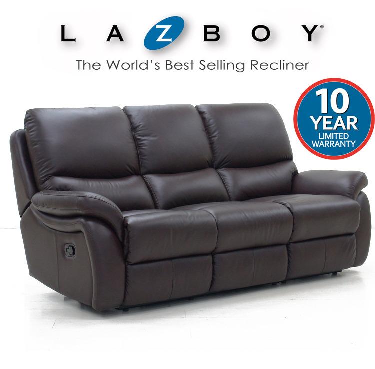 La Z Boy Carlton Leather Range 3 Seater Lazboy