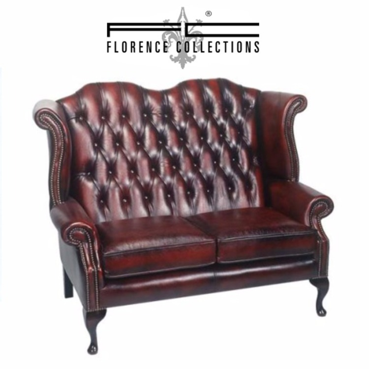 Chesterfield Queen Ann Wing Sofa