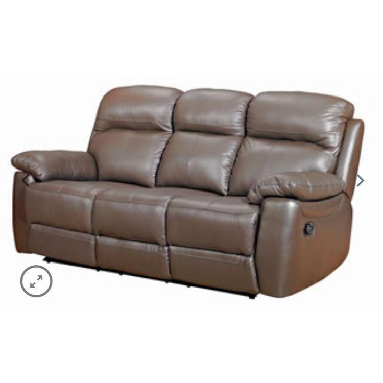 Ascot Leather Sofa Range 3 Seater Fixed