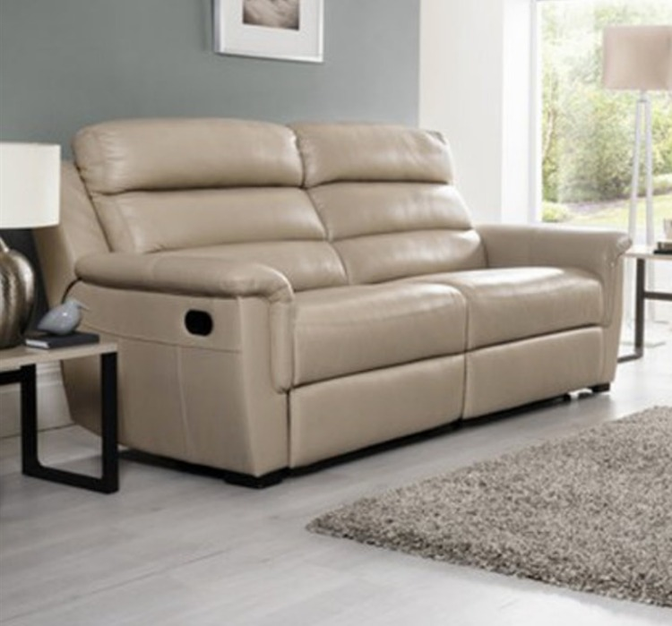 Messina Leather Range 3 Seater Sofa