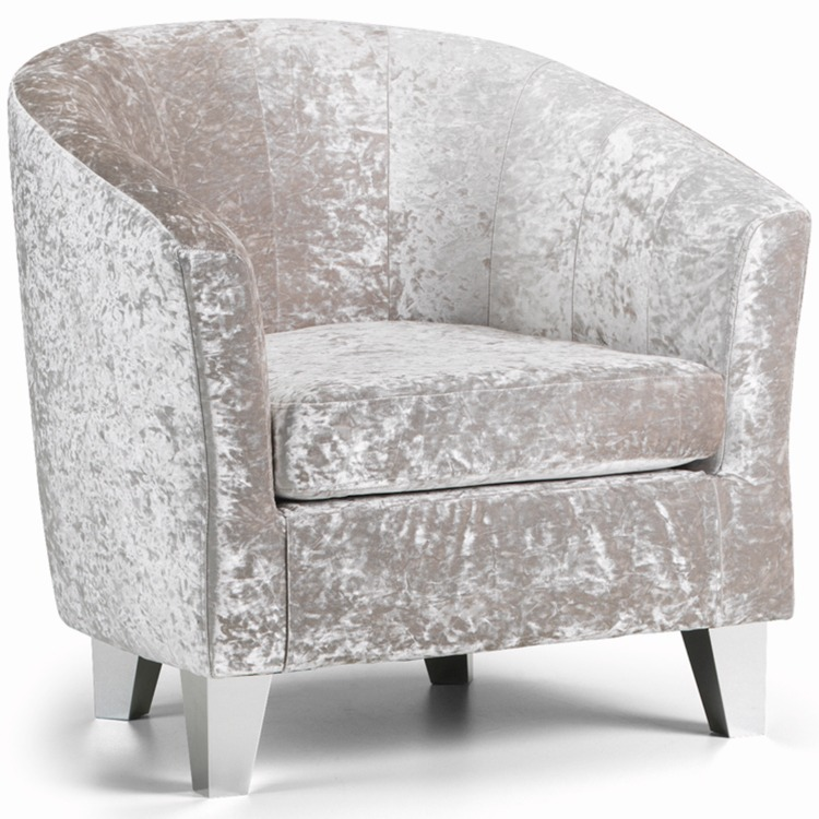 Tub Crushed Velvet Chair ...