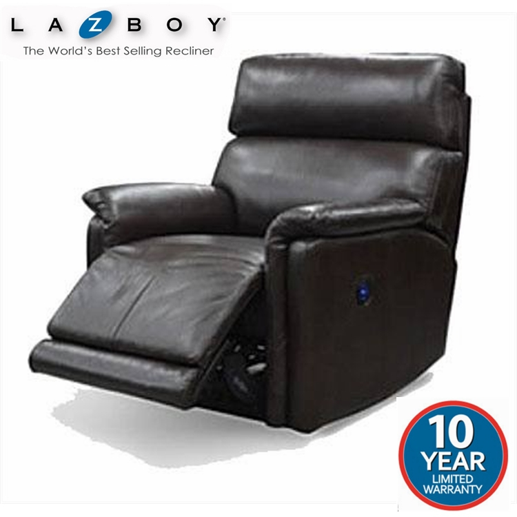 Lazboy Jacksonville Leather Manual Recliner Chair