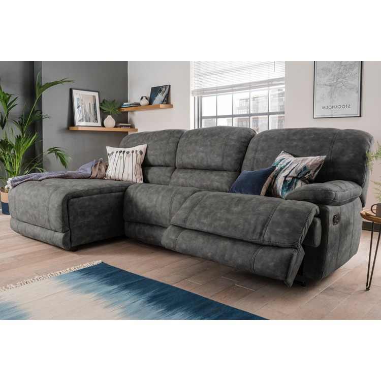 Bodie Chaise Manual Recliner Sofa 4 seater