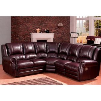 woodstockleather corner recliner