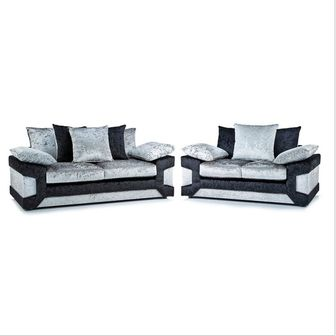 Crushed Velvet Blade 3 Seater and 2 seater